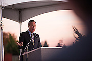Santa Clara County Board of Supervisors President Dave Cortese presents during the Milpitas Unified School District and San Jose Evergreen Community College District Community College Extension Ground Breaking Ceremony near Russell Middle School in Milpitas, California, on November 17, 2015. (Stan Olszewski/SOSKIphoto)