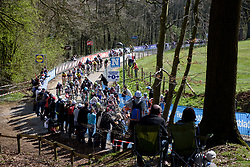 First time up Kemmelberg at Women's Gent Wevelgem 2017. A 145 km road race on March 26th 2017, from Boezinge to Wevelgem, Belgium. (Photo by Sean Robinson/Velofocus)