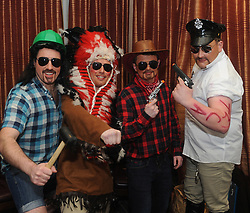 The Village People &hellip;Christopher Rose, James O&rsquo;Donnell, Darren Glennon and Austin O&rsquo;Malley at Westport United&rsquo;s &lsquo;Stars in their Eyes&rsquo; on friday night last.<br /> Pic Conor McKeown