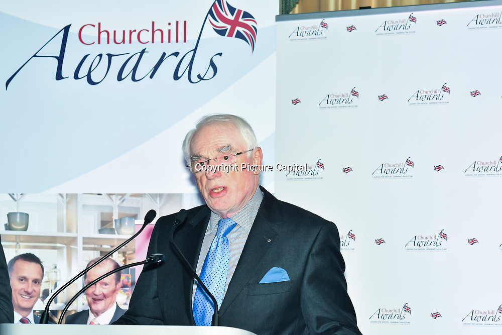 Winner of The Churchill Foundation Award – Ken Syvret of the 7th annual Churchill Awards honour achievements of the Over 65's at Claridge's Hotel on 10 March 2019, London, UK.