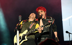 © Licensed to London News Pictures. 26/08/2011. Reading, UK. My Chemical Romance play the Main Stage on Day one of Reading Festival 2011 in Reading, Berkshire today (26/08/2011). Photo credit: Ben Cawthra/LNP