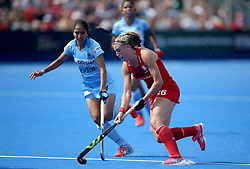 England's Lily Owsley during the Vitality Women's Hockey World Cup pool B match at The Lee Valley Hockey and Tennis Centre, London.