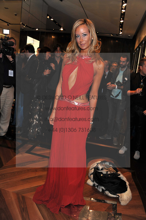 LADY VICTORIA HERVEY at a party hosted by Roberto Cavalli to celebrate his new Boutique's opening at 22 Sloane Street, London followed by a party at Battersea Power Station, London SW8 on 17th September 2011.