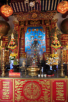 An altar inside the Cantonese Assembly Hall in the old town of Hoi An, Vietnam.