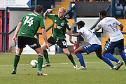 Scunthorpe United Midfielder, Neil Bishop (12)during the EFL Sky Bet League 1 match between Bury and Scunthorpe United at the JD Stadium, Bury, England on 1 October 2016. Photo by Mark Pollitt.