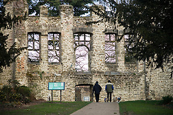 Ruins of Cavendish House, built circa 1600, Abbey Park, Leicester, England, UK.