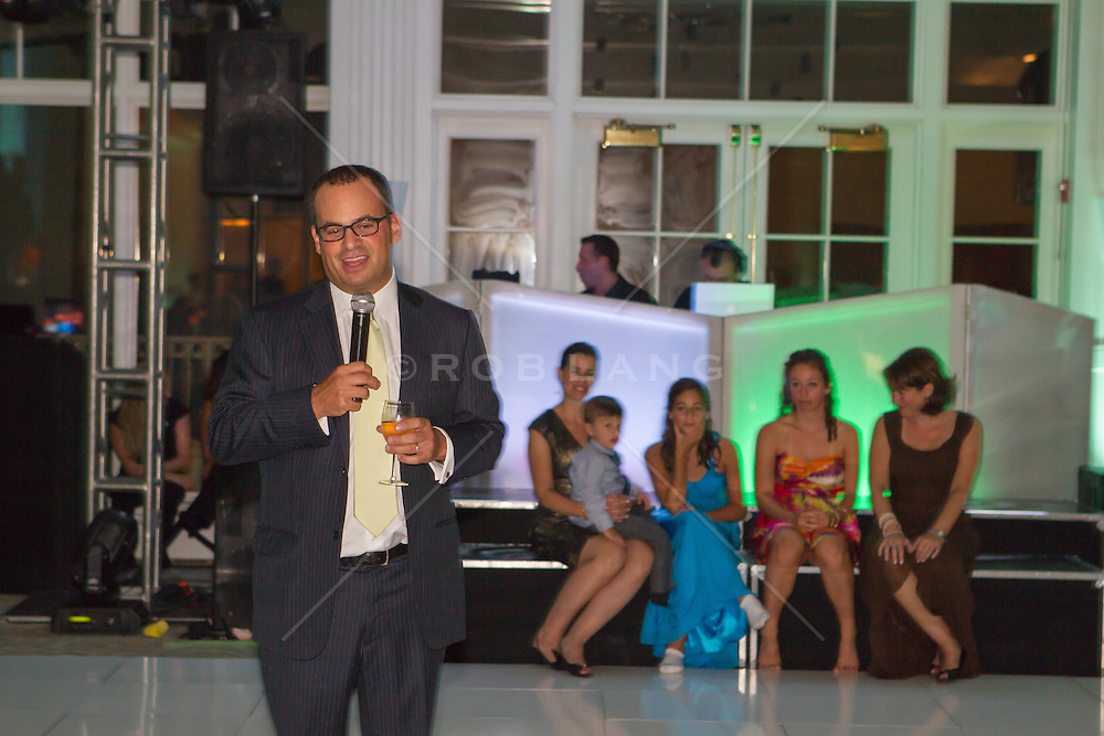 father giving a speech at his daughter's Bat Mitzvah
