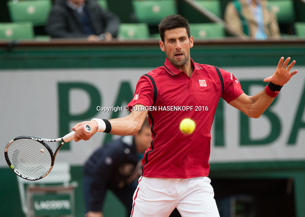 Novak Djokovic (SRB)<br /> <br /> Tennis - French Open 2016 - Grand Slam ITF / ATP / WTA -  Roland Garros - Paris -  - France  - 1 June 2016.