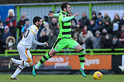 Forest Green Rovers Gavin Gunning(16) runs forward during the EFL Sky Bet League 2 match between Forest Green Rovers and Port Vale at the New Lawn, Forest Green, United Kingdom on 6 January 2018. Photo by Shane Healey.