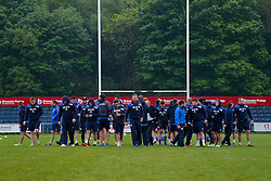 Bristol Rugby inspect the pitch after arriving - Mandatory byline: Rogan Thomson/JMP - 18/05/2016 - RUGBY UNION - Castle Park - Doncaster, England - Doncaster Knights v Bristol Rugby - Greene King IPA Championship Play Off FINAL 1st Leg.