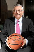 National Basketball Association (NBA) Commissioner David Stern poses in his Manhattan office in New York City
