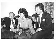 Dmitri Kasterine, Mr. and Mrs. Roderick Llewellen. Polish Club. 1983 approx. © Copyright Photograph by Dafydd Jones 66 Stockwell Park Rd. London SW9 0DA Tel 020 7733 0108 www.dafjones.com