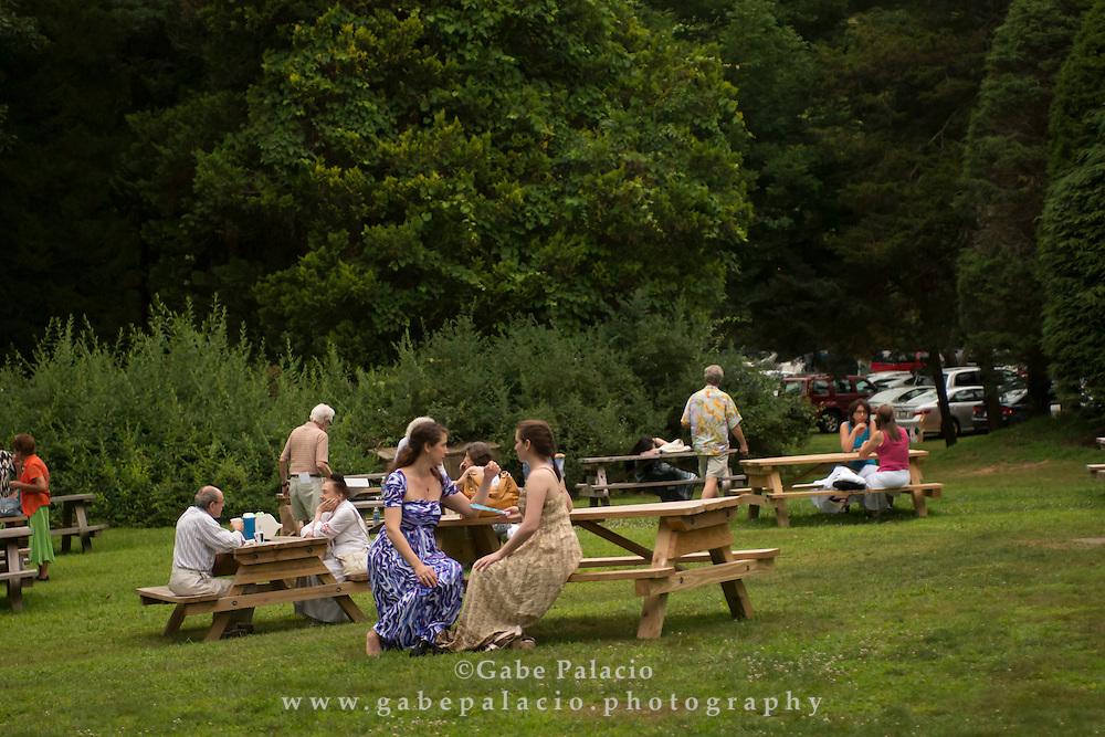 Picnic on the grounds at Caramoor in Katonah New York on Saturday, July 7, 2012..photo by Gabe Palacio for Caramoor