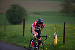 Chantal Hoffmann of Lotto Soudal Ladies rides in the second short loop of Stage 2 of the Festival Elsy Jacobs - a 111.1 km road race, starting and finishing in Garnich on April 29, 2018, in Luxembourg. (Photo by Balint Hamvas/Velofocus.com)