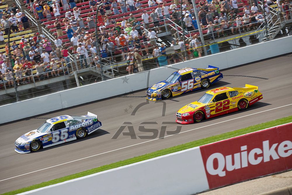BROOKLYN, MI - JUN 17, 2012:  The NASCAR Sprint Cup teams race for the Quicken Loans 400 at the Michigan International Speedway in Brooklyn, MI.