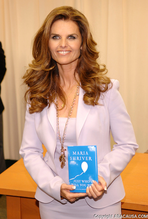 Author Maria Shriver poses before signing her book 'Just Who Will You Be?' at Barnes & Noble Bookstore in New York City, USA on April 23, 2008.