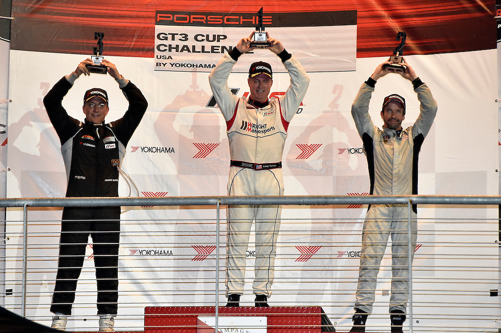 18-19 September 2014, Austin, Texas USA <br /> Podium, 15, Kasey Kuhlman, Platinum, M, 2014 Porsche, 19, Mark McKenzie, Platinum, M, 2014 Porsche, 28, Amadeo Quiros, Platinum, M, 2014 Porsche<br /> &copy;2014, Scott R LePage <br /> LAT Photo USA