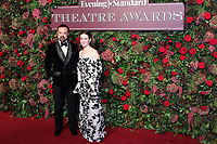 Evgeny Lebedev, Claire Foy, 64th Evening Standard Theatre Awards, Theatre Royal Drury Lane, London UK, 18 November 2018, Photo by Richard Goldschmidt