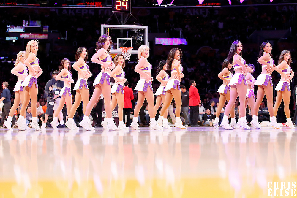 05 January 2014: The Lakers Girls perform during the Denver Nuggets 137-115 victory over the Los Angeles Lakers at the Staples Center, Los Angeles, California, USA.