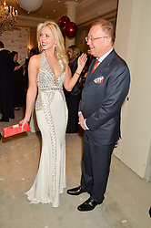 EKATERINA FIELDS andthe Russian Ambassdor to UK ALEXANDER YAKOVENKO at the Gift of Life Old Russian New Year's Eve charity gala held at The Savoy Hotel, London on 13th January 2016.
