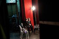 2 March 2012- Palermo, Italy: Rita Borsellino and governor of Puglia Nichi Vendola at the Dante Theatre in Palermo. Rita Borsellino, 66, is the mayor candidate in the centre-left primary campaing for the local elections of the city of Palermo, Sicily. ### 2 marzo 2012 - Palermo, Italia. Rita Borsellino e Nichi Vendola, Presidente della Regione Puglia, al Teatro Dante a Palermo. Rita Borsellino, 66 anni, è il candidato sindaco alle primare del centrosinistra per le elezioni amministrative della città di Palermo, Sicilia. marzo 2012 - Palermo, Italia. Rita Borsellino, 66 anni, è il candidato sindaco alle primare del centrosinistra per le elezioni amministrative della città di Palermo, Sicilia.