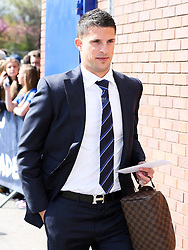 Everton's Kevin Mirallas arrives at Goodison Park - Photo mandatory by-line: Matt McNulty/JMP - Mobile: 07966 386802 - 26/04/2015 - SPORT - Football - Liverpool - Goodison Park - Everton v Manchester United - Barclays Premier League