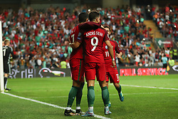 August 31, 2017 - Venice, Porto, Italy - Portugal's forward Cristiano Ronaldo celebrates after scoring a goal during the FIFA World Cup Russia 2018 qualifier match between Portugal and Faroe Islands at Bessa Sec XXI Stadium on August 31, 2017 in Porto, Portugal. (Credit Image: © Dpi/NurPhoto via ZUMA Press)