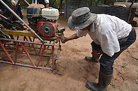 Water well drilling in Isosog