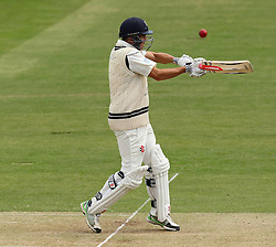 Middlesex's Neil Dexter loses his wicket after top edging Durham's John Hastings short ball - Photo mandatory by-line: Robbie Stephenson/JMP - Mobile: 07966 386802 - 03/05/2015 - SPORT - Football - London - Lords  - Middlesex CCC v Durham CCC - County Championship Division One