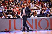 DESCRIZIONE : Milano Lega A 2014-15 <br /> EA7 Milano Granarolo Bologna<br /> GIOCATORE : Banchi Luca<br /> CATEGORIA : Allenatore Coach espressioni <br /> SQUADRA : EA7 Milano<br /> EVENTO : PlayOff Lega A 2014-2015<br /> GARA : EA7 Milano Granarolo Bologna<br /> DATA : 18/05/2015<br /> SPORT : Pallacanestro<br /> AUTORE : Agenzia Ciamillo-Castoria/M.Ozbot<br /> Galleria : Lega Basket A 2014-2015 <br /> Fotonotizia: Milano PlayOff Lega A 2014-15 EA7 Milano Granarolo Bologna