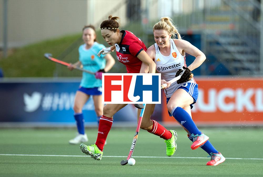 AUCKLAND - Sentinel Hockey World League final women<br /> Match id 10321<br /> Korea v England Bronze 1-0<br /> Korean win Bronz<br /> Foto:  Hollie Pearne-Webb <br /> WORLDSPORTPICS COPYRIGHT FRANK UIJLENBROEK