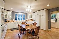 Illuminated kitchen in residence