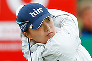 Jin Young Ko tees off during the Ricoh Women's British Open golf tournament at Royal Lytham and St Annes Golf Club, Lytham Saint Annes, United Kingdom on 3 August 2018. Picture by Simon Davies.