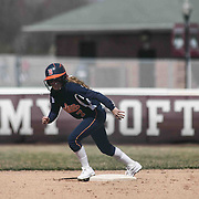 Delmar Wildcats Infielder Rachel Davis (7) seen on second base during a varsity scheduled game between Caravel Academy and The Delmar Wildcats Saturday, April 4, 2015, at Caravel Athletic Field in Bear Delaware.