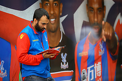 Crystal Palace fan read the program outside Selhurst Park - Mandatory by-line: Jason Brown/JMP - 14/10/2017 - FOOTBALL - Selhurst Park - London, England - Crystal Palace v Chelsea - Premier League