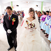 Bunun Aboriginal Bride and groom, Namasiya Township wedding, Kaoshiung County, Taiwan