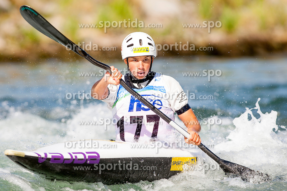 Viktoria Wolffhardt of Austria during Kayak(K1) Women semi-final race at ICF Canoe Slalom World Cup Sloka 2013, on August 18, 2013, in Tacen, Ljubljana, Slovenia. (Photo by Urban Urbanc / Sportida.com)