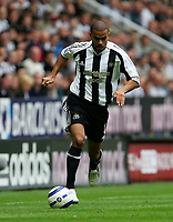 Fotball<br /> England 2005/2006<br /> Foto: SBI/Digitalsport<br /> NORWAY ONLY<br /> <br /> FA Barclays Premiership<br /> Newcastle United v Manchester United<br /> 28th August, 2005<br /> <br /> Newcastle's Kieron Dyer, who was later substituted with a suspected injury.
