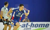 Handball EM Herren 2010 Hauptrunde Deutschland - Frankreich 24.01.2010 Sebastien Bosquet (FRA) jubelt