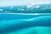Aerial view of western (mainland) shore of Fraser Island, Queensland, Australia