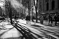 Rays of light at the New York Public Library in New York City