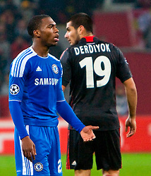23.11.2011, BayArena, Leverkusen, Germany, UEFA CL, Gruppe E, Bayer 04 Leverkusen (GER) vs Chelsea FC (ENG), im Bild Chelsea's Daniel Sturridge gets frustrated with team-mates during the UEFA Champions League Group E match against Bayer Leverkusen at the BayArena. (Pic by David Tickle/Propaganda). EXPA Pictures © 2011, PhotoCredit: EXPA/ Sportida/ David Tickle..***** ATTENTION - OUT OF ENG, GBR, UK *****
