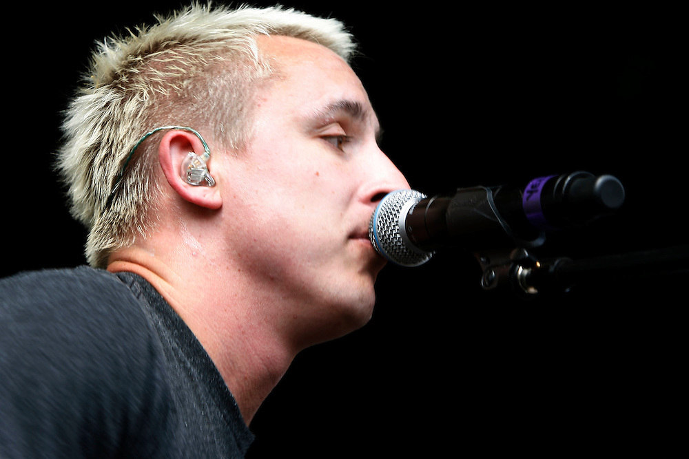 Yellowcard performs at the Van's Warped Tour stop at the Utah State Fair Park in Salt Lake Cityi, Utah Saturday July 7, 2007.  August Miller/ Deseret Morning News