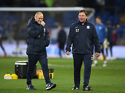 "Preston North End manager Alex Neil (left) and first team coach Steve Thompson during the Sky Bet Championship match at The Den, London. PRESS ASSOCIATION Photo. Picture date: Friday December 29, 2017. See PA story SOCCER Cardiff. Photo credit should read: Nick Potts/PA Wire. RESTRICTIONS: EDITORIAL USE ONLY No use with unauthorised audio, video, data, fixture lists, club/league logos or ""live"" services. Online in-match use limited to 75 images, no video emulation. No use in betting, games or single club/league/player publications."