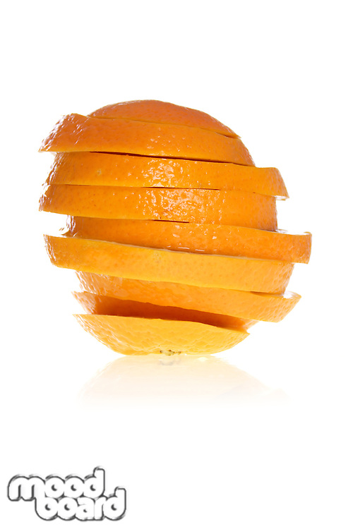 Close up of oranges cut on slices