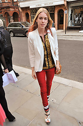 MARY CHARTERIS at the opening party for Nicholas Kirkwood's new store at 5 Mount Street, London on 12th May 2011.