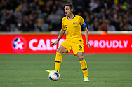 CANBERRA, AUSTRALIA - OCTOBER 10: Australian defender Mark Milligan (5) controls the ball during the FIFA World Cup Qualifier soccer match between Australia and Nepal on October 10, 2019 at GIO Stadium in Canberra, Australia. (Photo by Speed Media/Icon Sportswire)