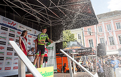08.07.2017, Wels, AUT, Ö-Tour, Österreich Radrundfahrt 2017, Siegerehrung, im Bild Sep Vanmarcke (BEL, Cannondale-Drapac Pro Cycling Team) Gewinner Punktewertung // Sep Vanmarcke of Belgium (Cannondale Drapac Professional Cycling Team) winner points classification on Podium during winner ceremony for 2017 Tour of Austria. Wels, Austria on 2017/07/08. EXPA Pictures © 2017, PhotoCredit: EXPA/ Reinhard Eisenbauer