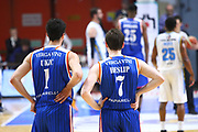 DESCRIZIONE : Cremona Lega A 2015-2016 Vanoli Cremona Acqua Vitasnella Cantu<br /> GIOCATORE :  Roko Ukic Brad Heslip<br /> SQUADRA : Acqua Vitasnella Cantu<br /> EVENTO : Campionato Lega A 2015-2016<br /> GARA : Vanoli Cremona Acqua Vitasnella Cantu<br /> DATA : 03/04/2016<br /> CATEGORIA : Ritratto Delusione<br /> SPORT : Pallacanestro<br /> AUTORE : Agenzia Ciamillo-Castoria/F.Zovadelli<br /> GALLERIA : Lega Basket A 2015-2016<br /> FOTONOTIZIA : Cremona Campionato Italiano Lega A 2015-16  Vanoli Cremona Acqua Vitasnella Cantu<br /> PREDEFINITA : <br /> F Zovadelli/Ciamillo
