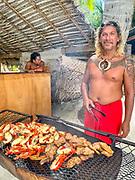 Luau, Feast, Motu, Bora Bora, French Polynesia
